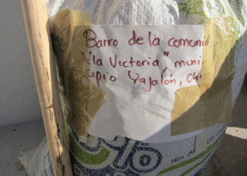 One of the first clay samples obtained from Yajalón, Chiapas - Ceramic Water Filter Solutions