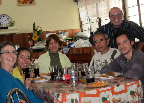 Dinner with the Navarro family - Ceramic Water Filter Solutions