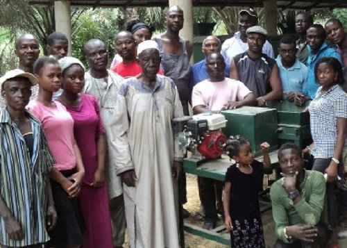 IBK with villagers and new equipment - Ceramic Water Filter Solutions