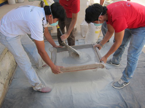 Sieving and Mixing Clay - Ceramic Water Filter Solutions